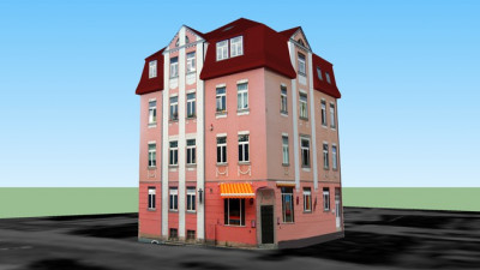 3D-Modell der Geschwister-Scholl-Straße 1, Weimar