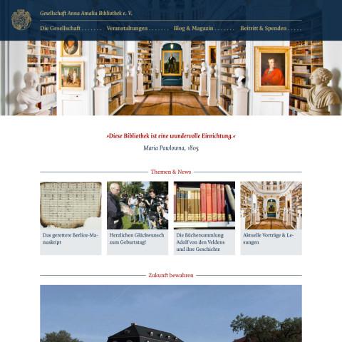 Website Gesellschaft Anna Amalia Bibliothek e.V.
