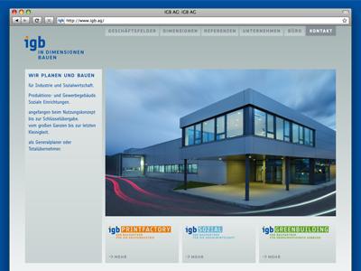 igb AG Website Redesign