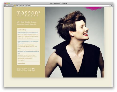 Website masson®Friseure