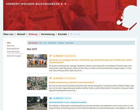 Website »Herbert-Wehner-Bildungswerk e.V.«